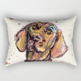 Hungarian Vizsla Dog Closeup Rectangular Pillow
