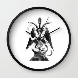 Baphomet Goat Church of Satan Wall Clock