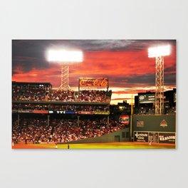 Fenway Park Sunset Canvas Print