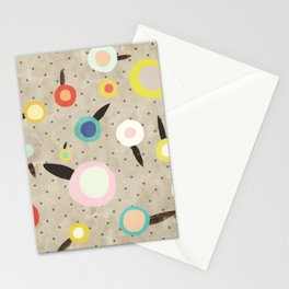 Flowers Vintage Brown Polka dots Stationery Cards