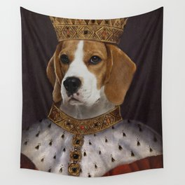 The Most Regal of the Beagles Wall Tapestry