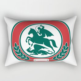 Saint George Slaying Dragon Circle Retro Rectangular Pillow