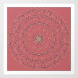 Mauve Rose Simple Mandala Art Print