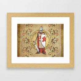 Board Game Knight - Medallion Framed Art Print