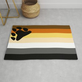 Gay Bear Brotherhood Flag Rug