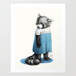 Miss Red Panda in Dress Art Print