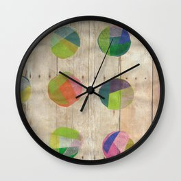 Circles on Wood Wall Clock