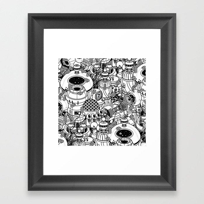 Dark Matter Space Machine Framed Art Print