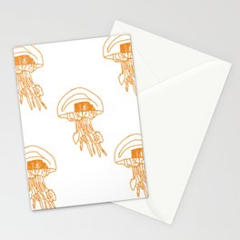 méduses ocres Stationery Cards