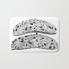 2 pieces of toast Bath Mat