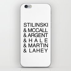 Teen Wolf Last Names iPhone & iPod Skin