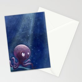 Deep blue Stationery Cards
