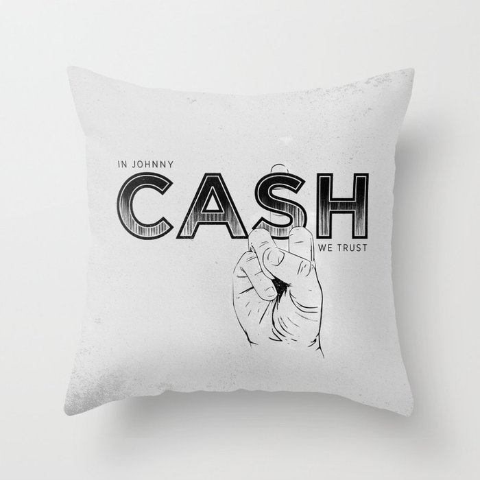 In Johnny Cash We Trust. Throw Pillow