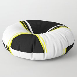 Mod 60's - White Yellow & Black Floor Pillow