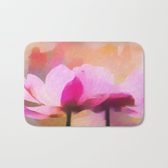 Anemone abstract hand painted Bath Mat