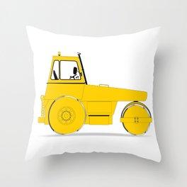 Modern Road Roller Throw Pillow