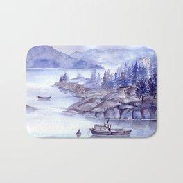 Fjord Monochrome Bath Mat