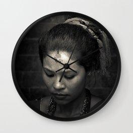 Nepalese Woman, Kathmandu, nepal Wall Clock