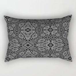 Midnight Black Rectangular Pillow