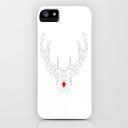Red Nosed Reindeer iPhone Case