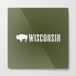 Bison: Wisconsin Metal Print
