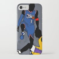 lakers iPhone & iPod Cases featuring The Step Over by nissa