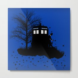 Tardis Shadow Metal Print