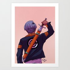 Mirai Trunks Art Print