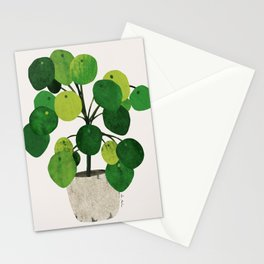 Pilea Peperomioides interior plant Stationery Cards