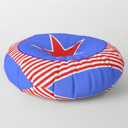 Patriotic Star in with Blue Floor Pillow