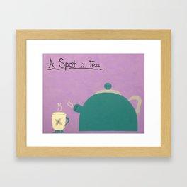 A Spot of Tea Framed Art Print
