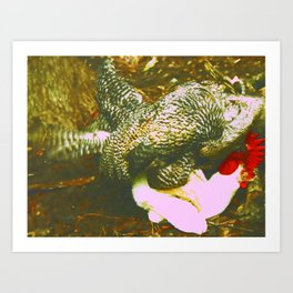 Chauvinist Chicken Art Print