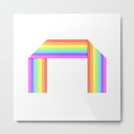 Folded rainbow Metal Print