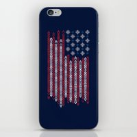 patriots iPhone & iPod Skins featuring Native Patriots by Steven Toang