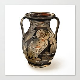 Greek Pelike with an Owl Canvas Print