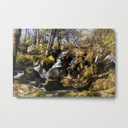 Becky Falls with texture Metal Print