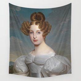 Portrait of Elise Dorothea Friederike by Ernst Thelott Wall Tapestry