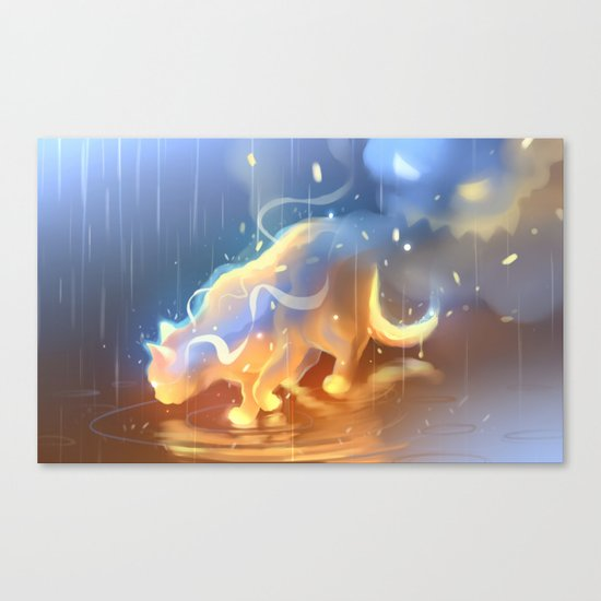 Flame Bound Canvas Print