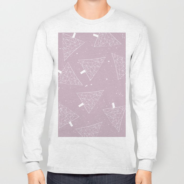 Christmas Trees Pink Long Sleeve T-shirt
