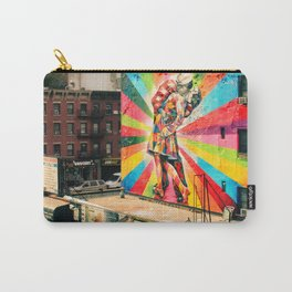 Street Art Mural, Times Square Kiss Recreation Carry-All Pouch