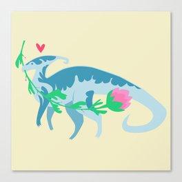 I Love You, Parasaurolophus Canvas Print