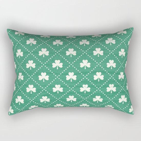 SHAMROCK ON! - emerald Rectangular Pillow