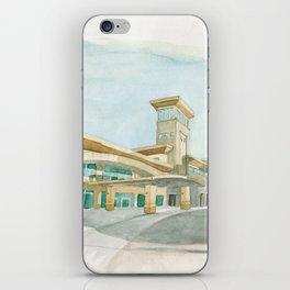 Watercolor Warwick World Headquarters iPhone Skin