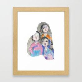 Those three women Framed Art Print