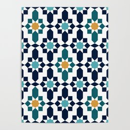 Moroccan style pattern Poster