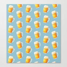 Ice Cold Beer Pattern Canvas Print