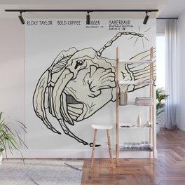 Saberbaud Beverage Beastie with Origin Story Wall Mural
