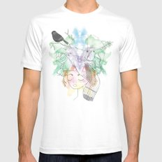 Au Printemps MEDIUM Mens Fitted Tee White