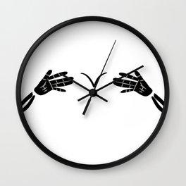 Skull Finger Skeleton Holloween Costume Women Wall Clock