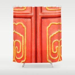 Chinese Door Shower Curtain